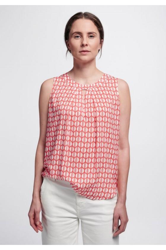 blouse sans manche rouge